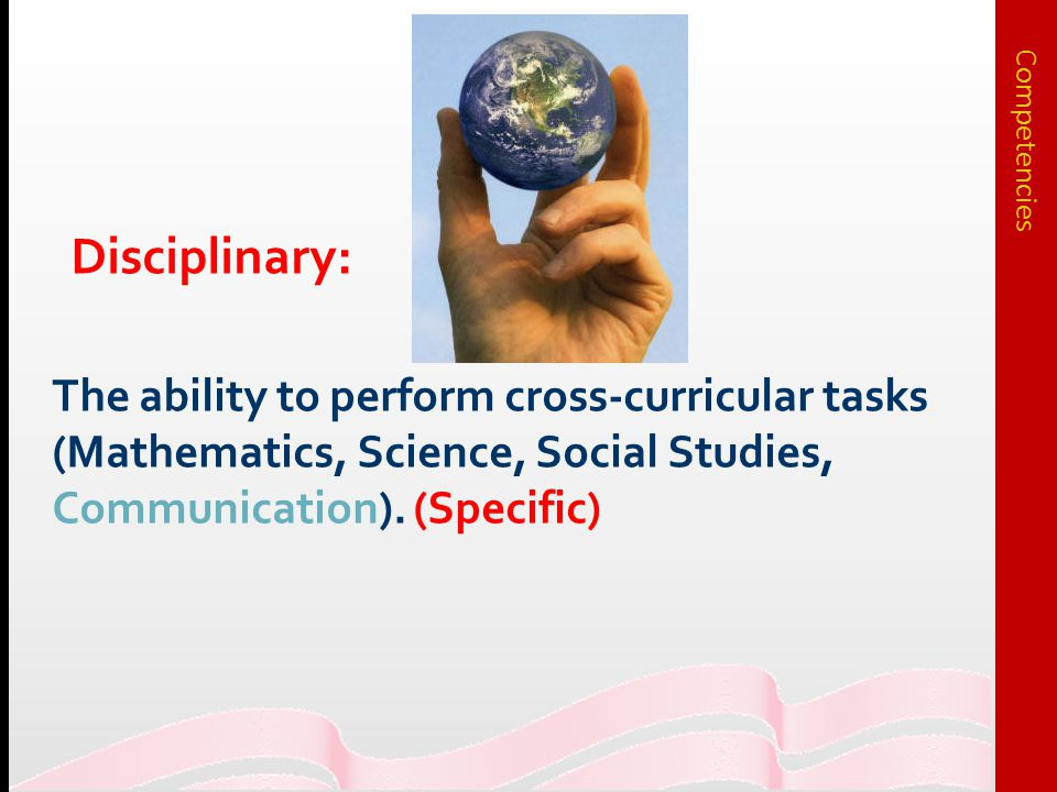 Disciplinary: The ability to perform cross-curricular tasks (Mathematics, Science, Social Studies, Communication).