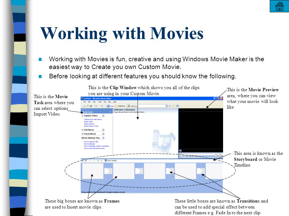 how to create a custom movie in windows movie maker menu click on