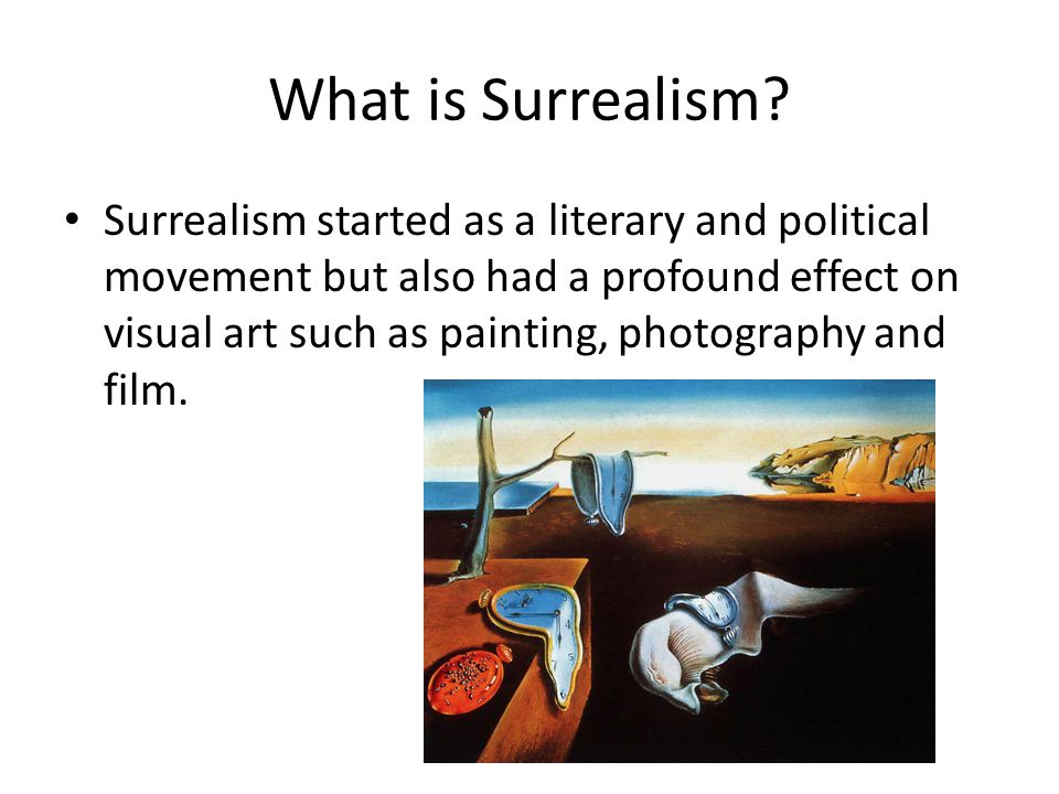 What is Surrealism.