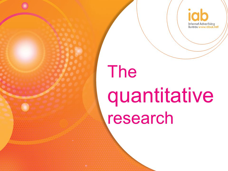 The quantitative research