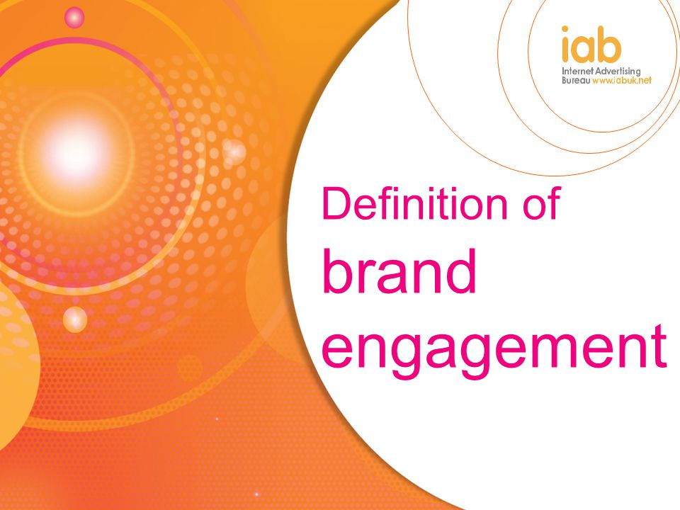 Definition of brand engagement