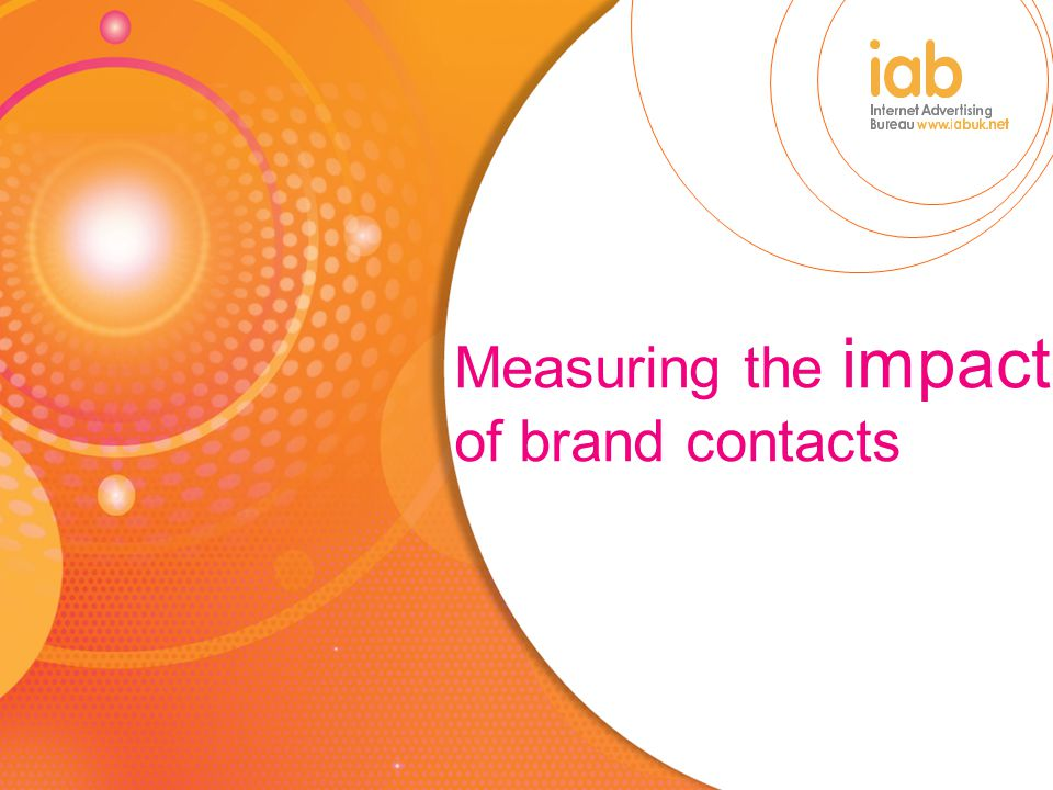 Measuring the impact of brand contacts