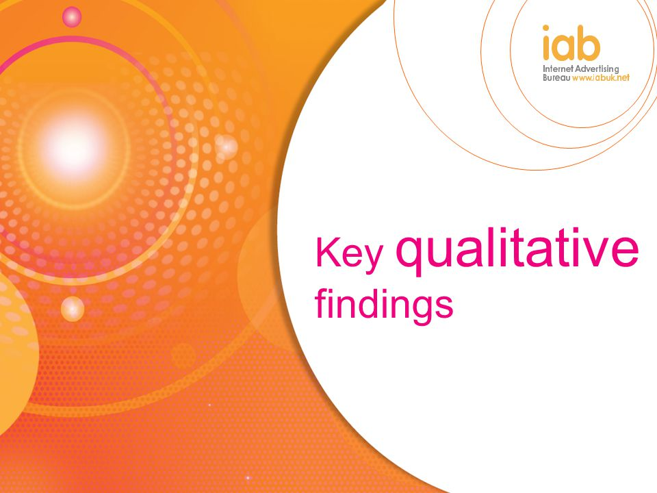 Key qualitative findings