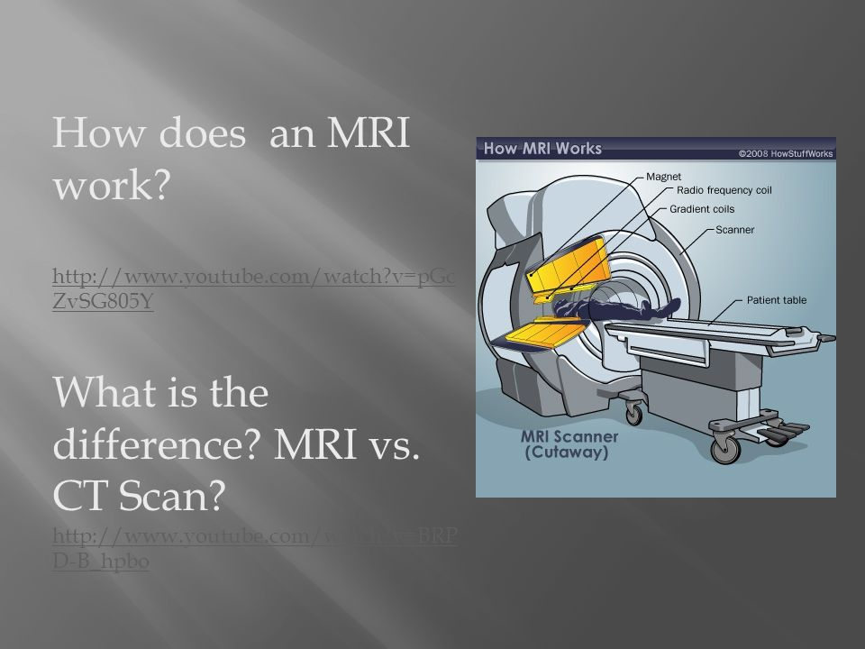 How does an MRI work.   v=pGc ZvSG805Y What is the difference.