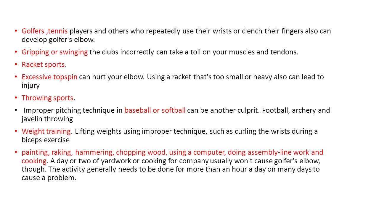 golfer's elbow *tennis elbow*. definition golfer's elbow is a