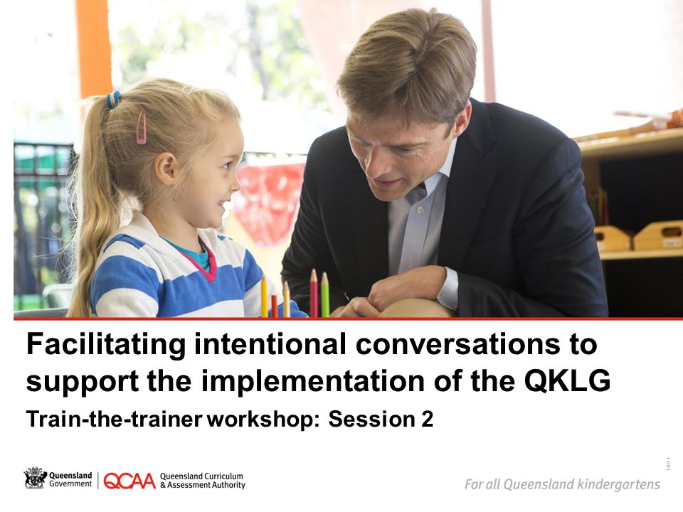 Facilitating intentional conversations to support the implementation of the QKLG Train-the-trainer workshop: Session