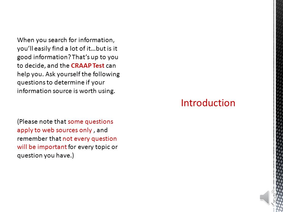 evaluating information applying the craap test