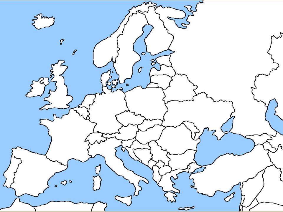 Map Of Europe Plain.Europe Chapters Ppt Download