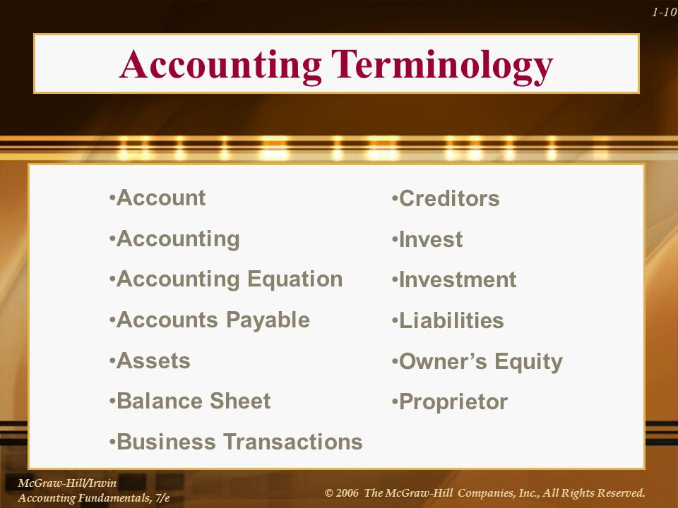 McGraw-Hill/Irwin Accounting Fundamentals, 7/e © 2006 The McGraw-Hill Companies, Inc., All Rights Reserved.