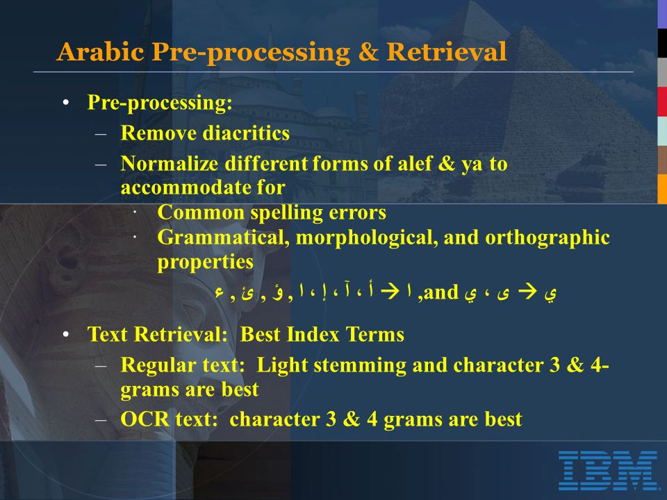 Effect of Word-Based Correction on Retrieval of Arabic OCR