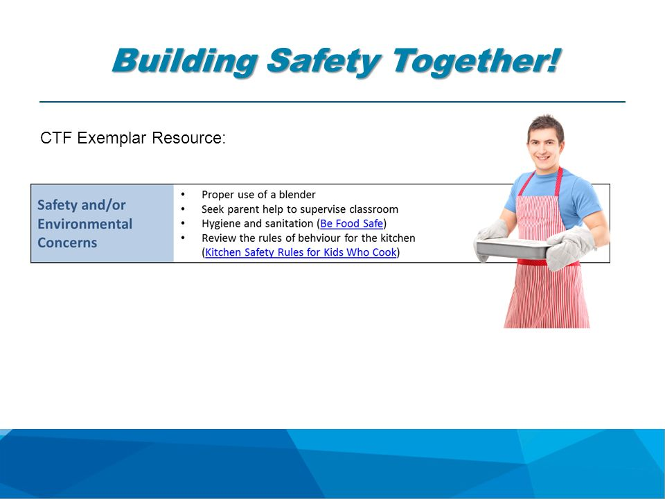 Building Safety Together! CTF Exemplar Resource: