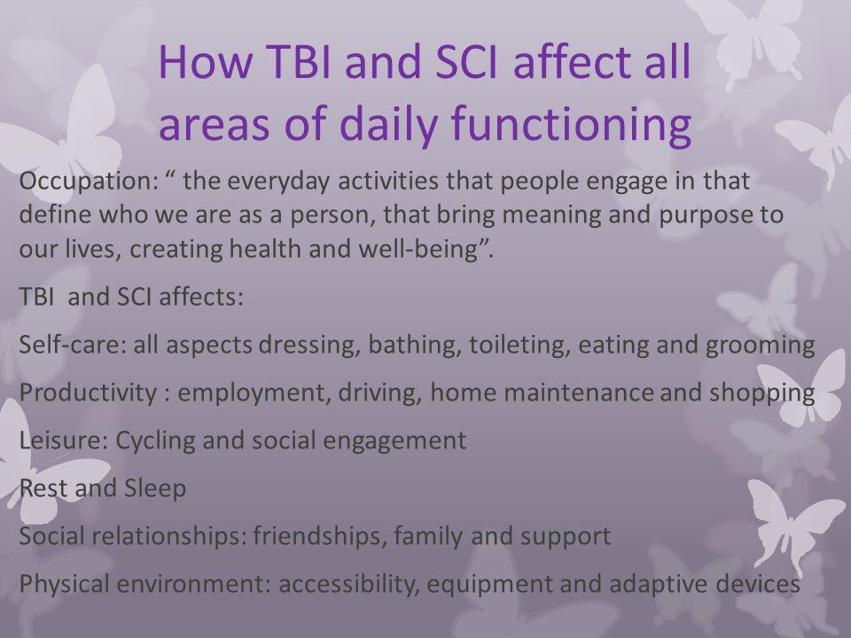 Traumatic Brain Injury & Spinal Cord Injury Psychosocial
