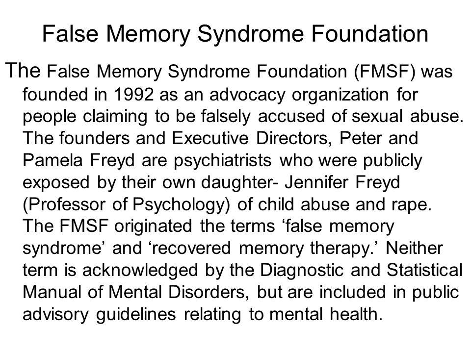 false memory syndrome statistics