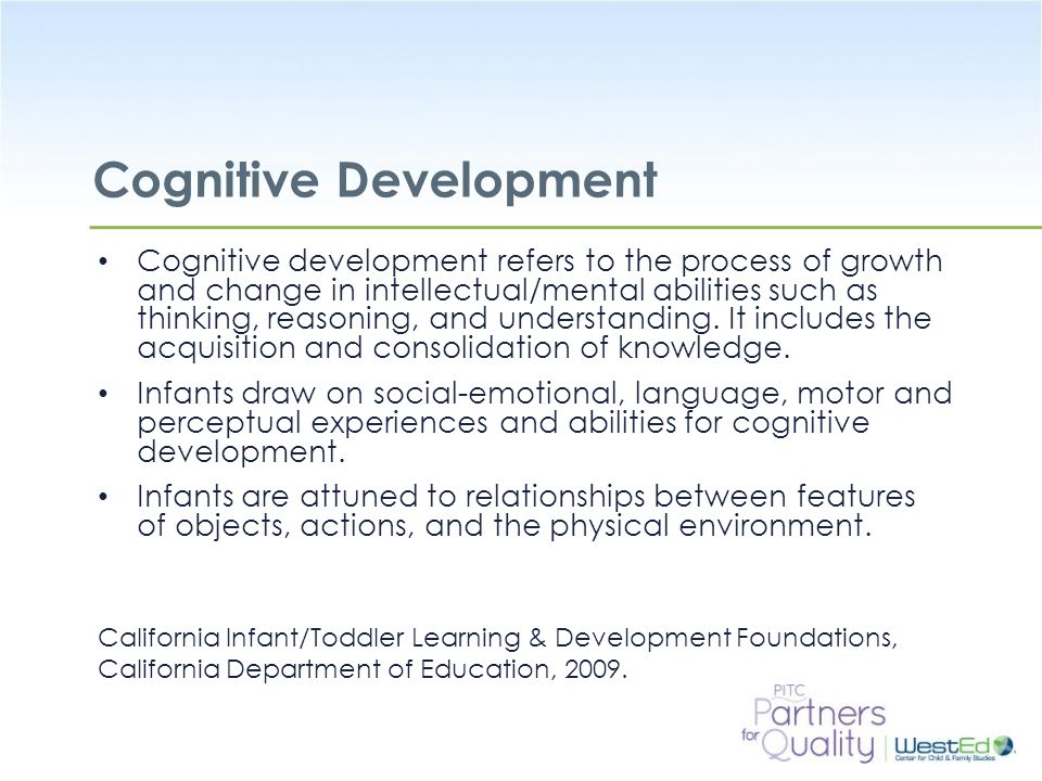 cognitive development in infants and toddlers