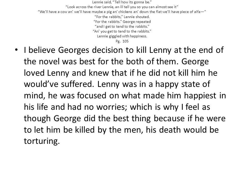george kills lennie quote