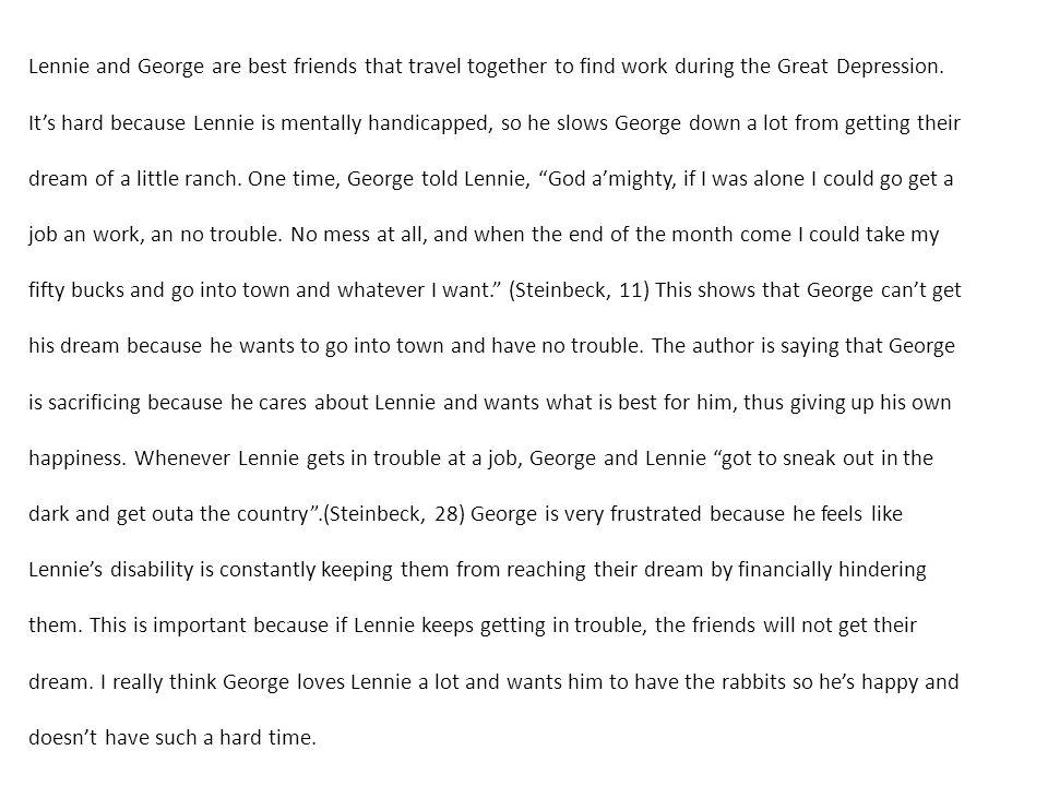 depression paragraph