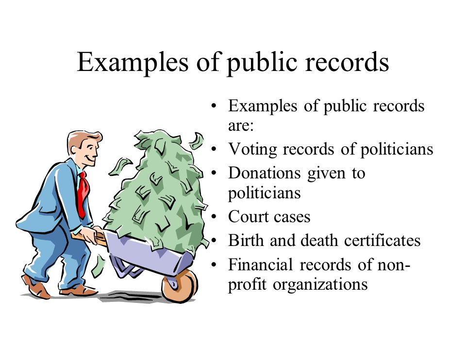 Internet Research Public Records Exercises Public Records In A