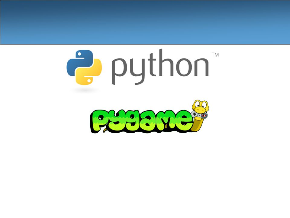 2 What is pyGame? A set of Python modules to make it easier to write