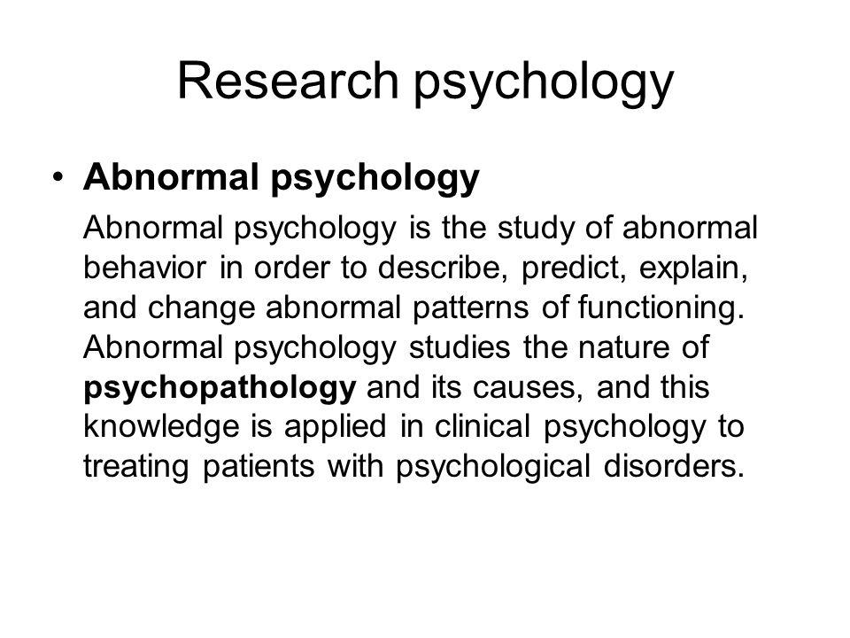 nature of psychology