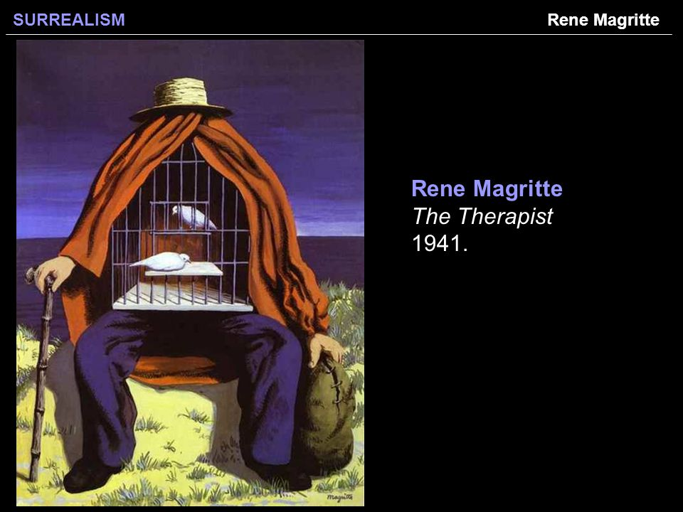 SURREALISM Rene Magritte The Therapist Rene Magritte