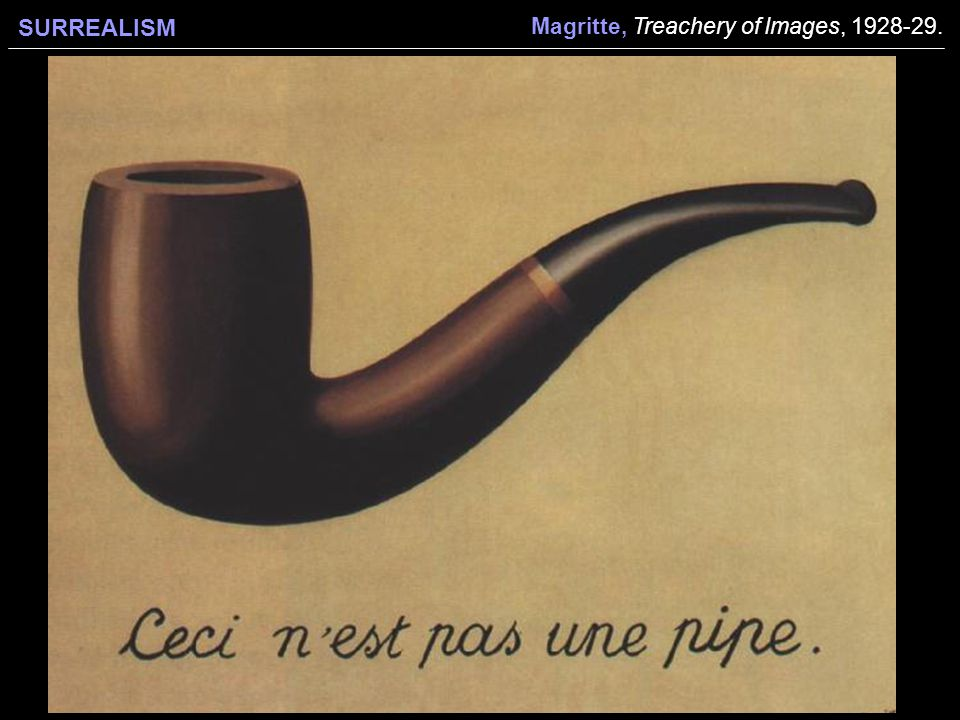 SURREALISM Magritte, Treachery of Images,