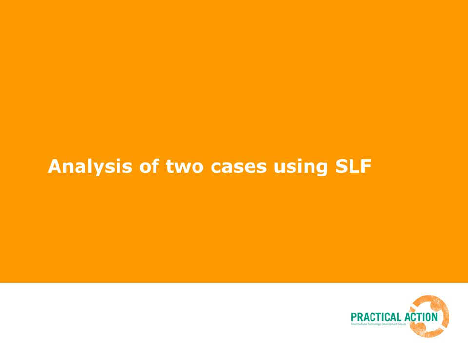 Analysis of two cases using SLF