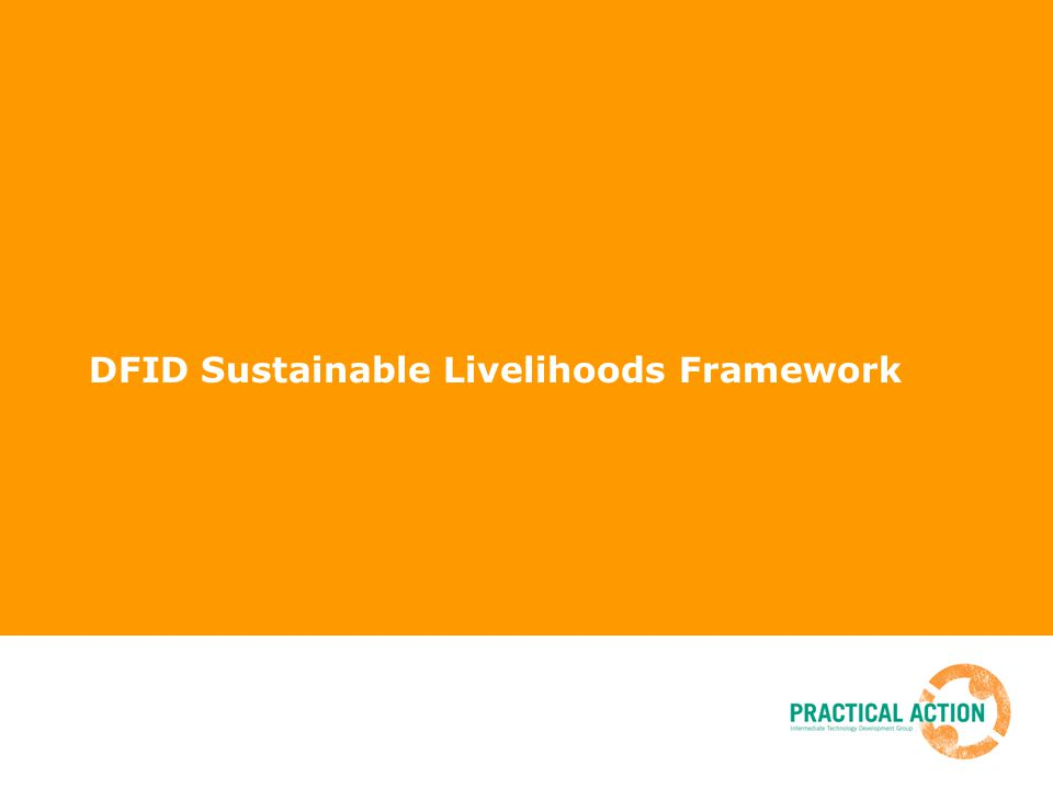 DFID Sustainable Livelihoods Framework