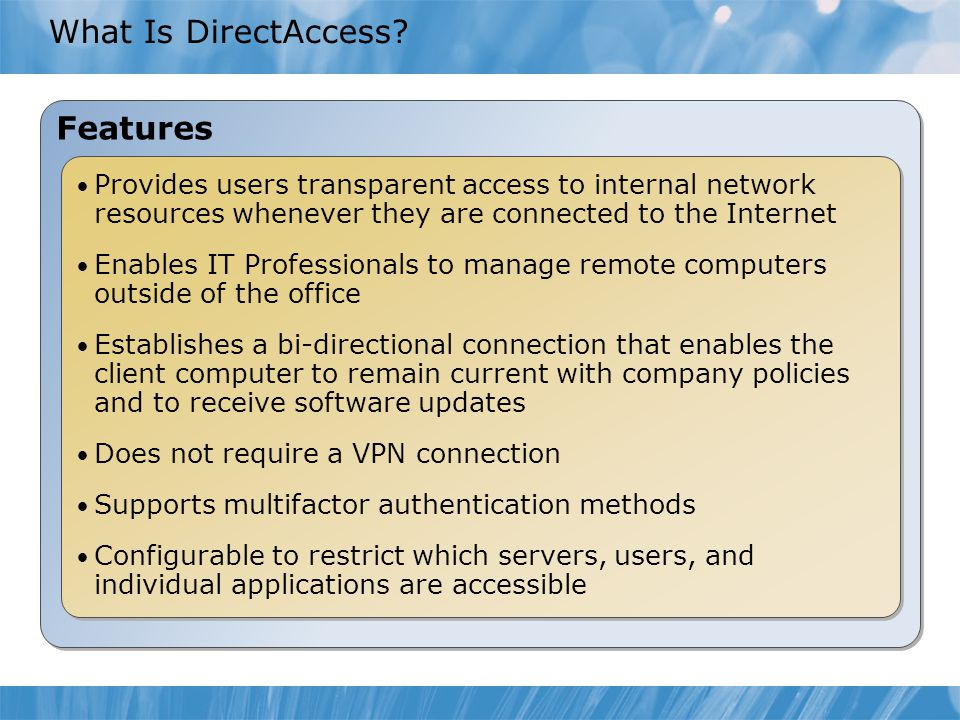 What Is DirectAccess.