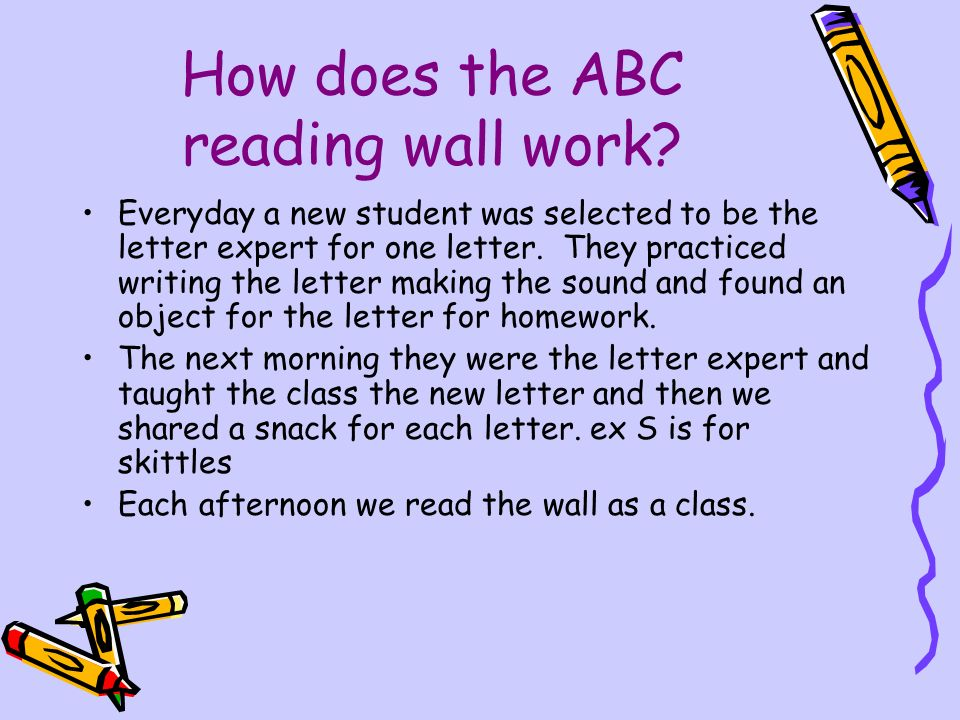 Teaching Letter Recognition And Sounds On The Abc Reading Wall Angie