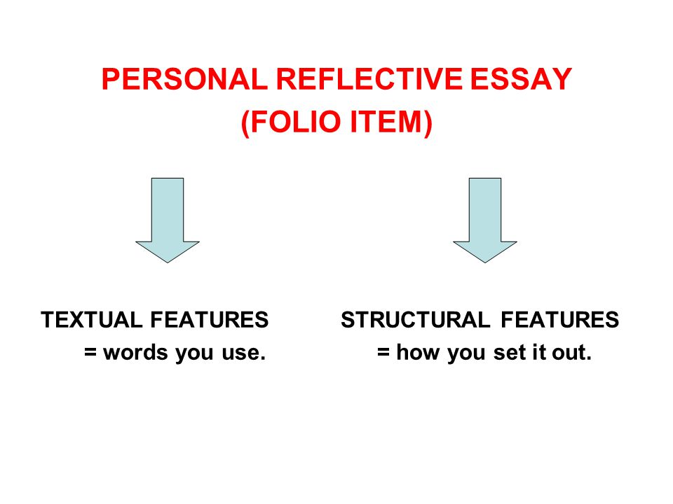 Essay Writing On Newspaper  Personal Reflective Essay Folio Item Textual Features Structural  Features  Words You Use How You Set It Out Essay On Library In English also Interview Essay Paper Personal Reflective Essay Folio Item Higherintermediate  English  Thesis For Compare Contrast Essay