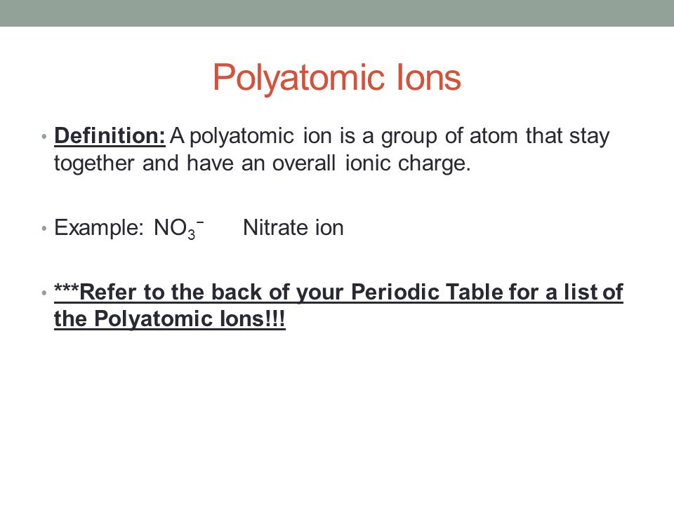 Writing names formulas for polyatomic ions related oxyacids 2 polyatomic urtaz Gallery