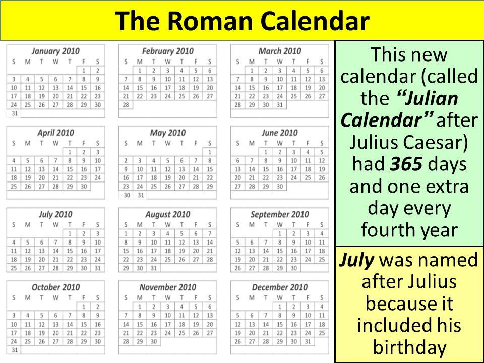 Roman Calendar.Roman Accomplishments Roman Achievements The Romans Developed