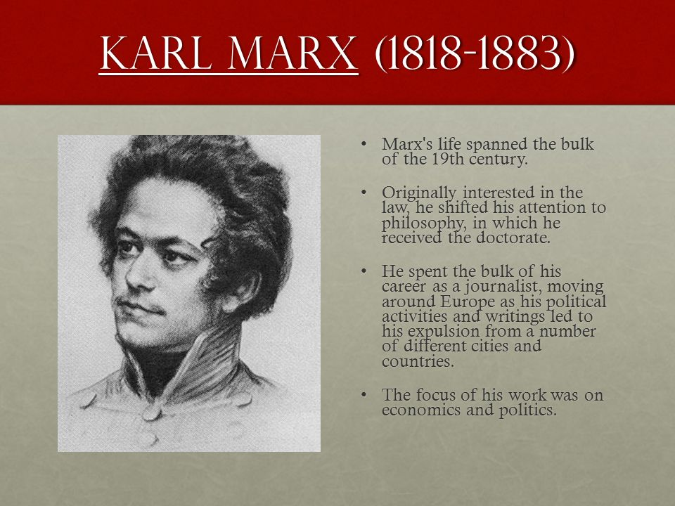 karl marxs philosophical life and contributions Karl marx karl marx (1818-1883) was a socialist theoretician and organizer, a major figure in the history of economic and philosophical thought, and a great social prophet.