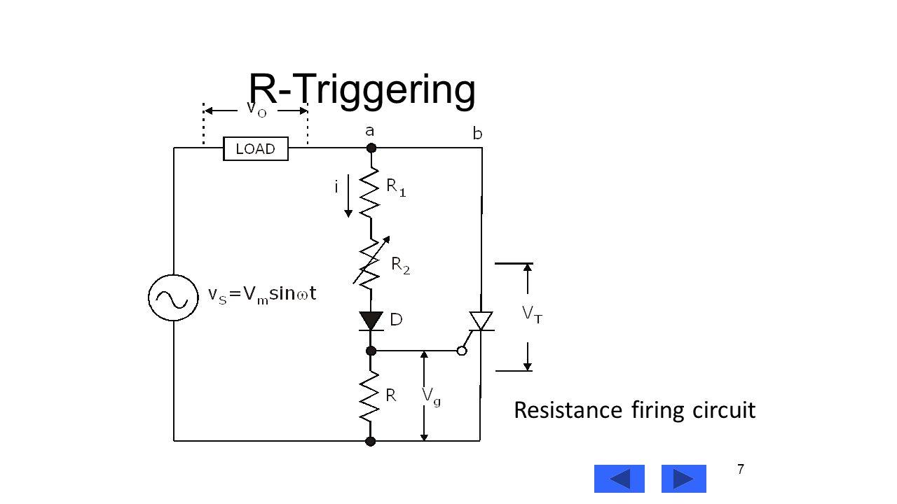 Power Electronics Lecture9 Prof Mohammed Zeki Khedher Department Scr Triggering Circuit 7 R Resistance Firing