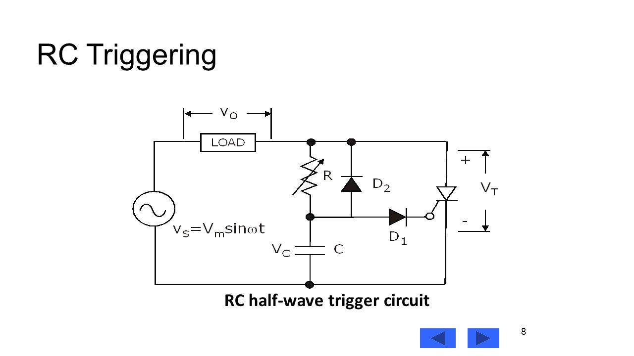 8 8 RC Triggering RC half-wave trigger circuit