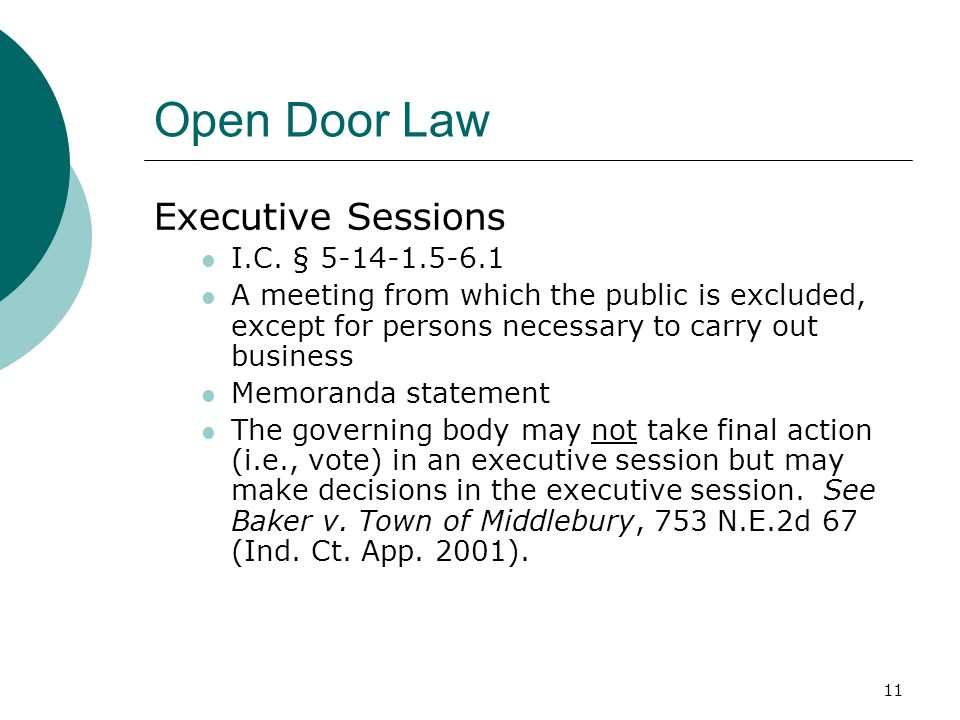 Indiana's Public Access Laws Indiana State Board of Accounts City