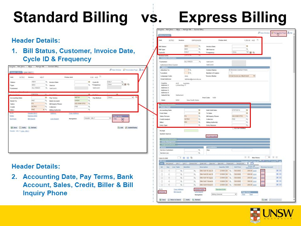 express billing finance business solutions agenda what is