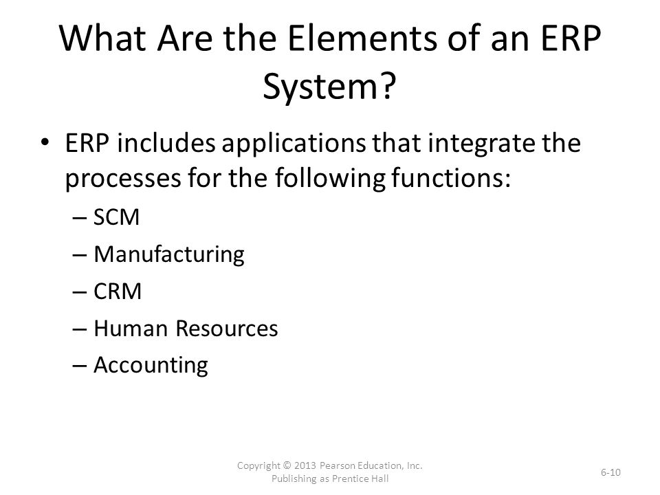 What Are the Elements of an ERP System.