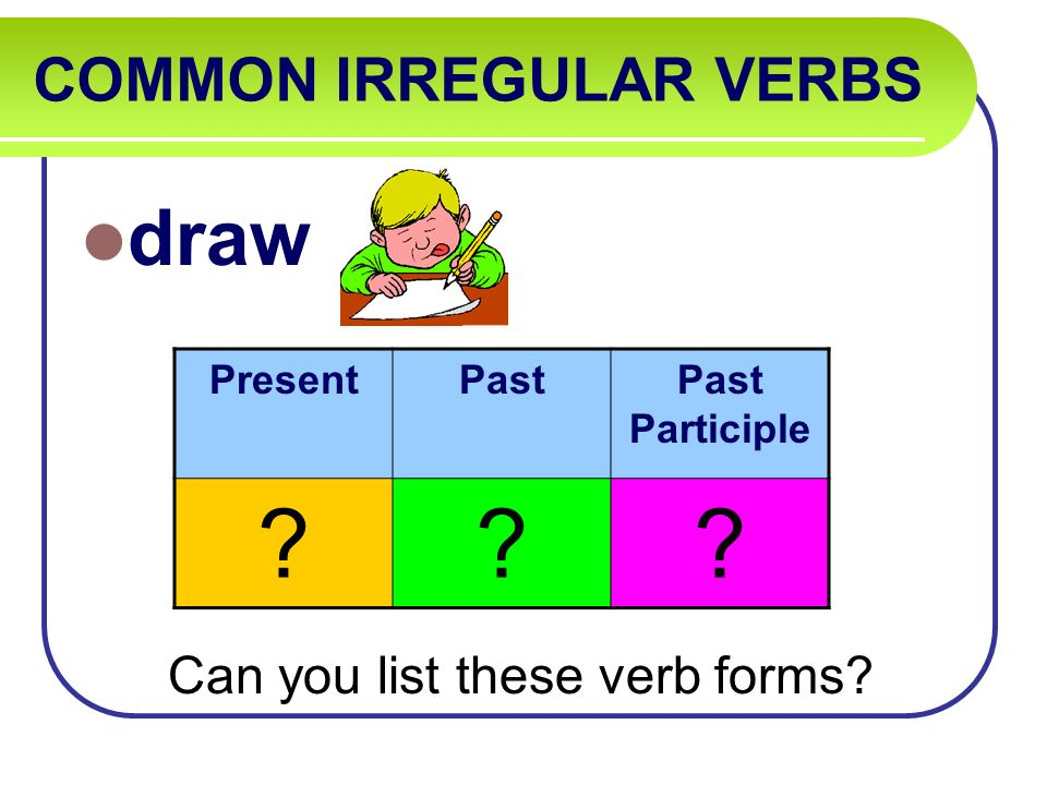 Irregular And Helping Verbs Challenge Game A Project La Activity