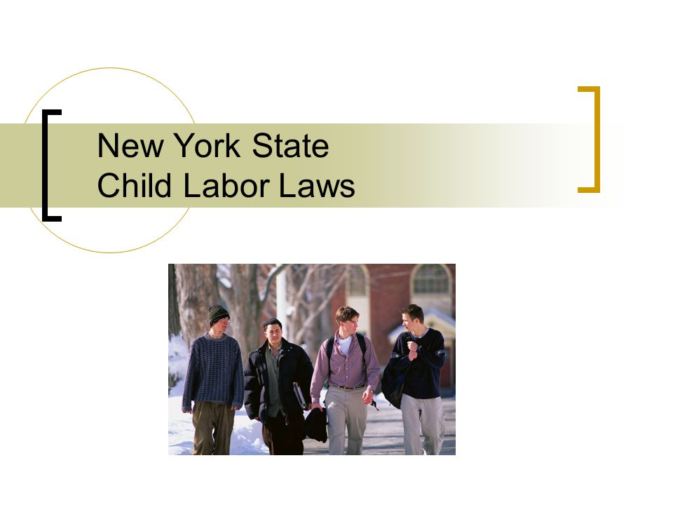 ny state minor labor laws