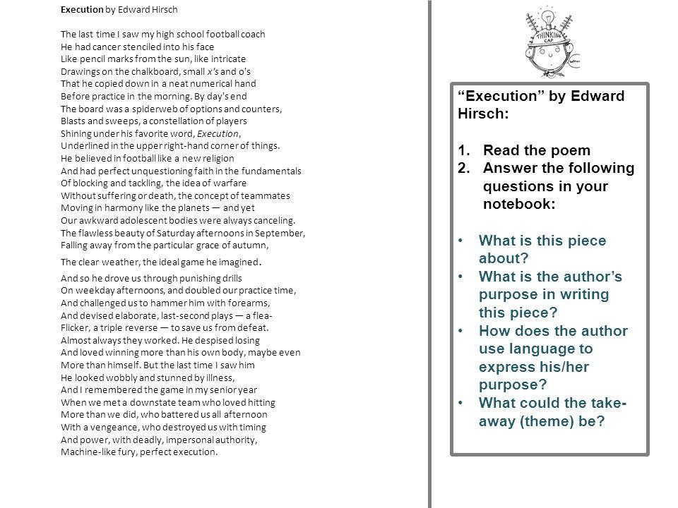 execution by edward hirsch