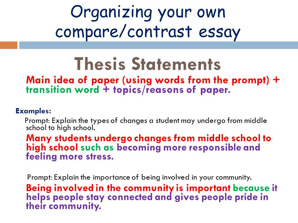 Compare contrast essay thesis mistyhamel
