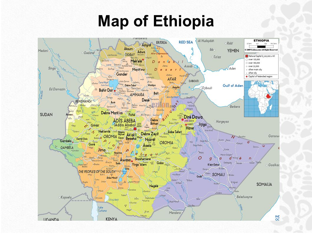 Ethiopia map of ethiopia can you find ethiopia on a map ppt download 2 map of ethiopia gumiabroncs Images