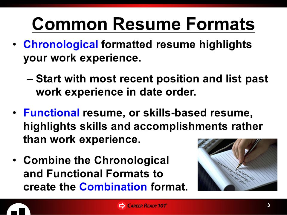 1 Preparing For Your Career Writing A Resume Lesson 2 Resume