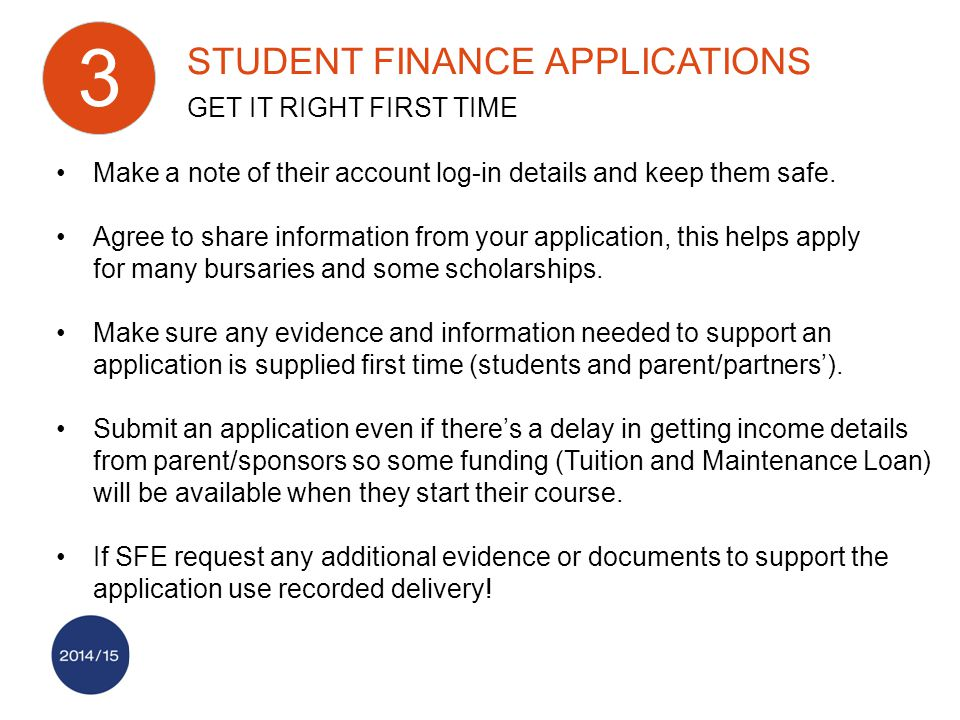 Make a note of their account log-in details and keep them safe.