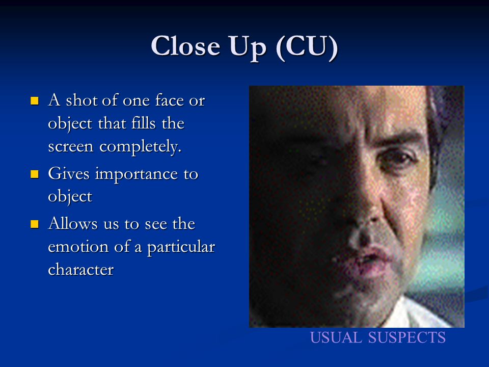 Cinematic Aspects of Film * Elements unique to film * Requires some knowledge of technical terms