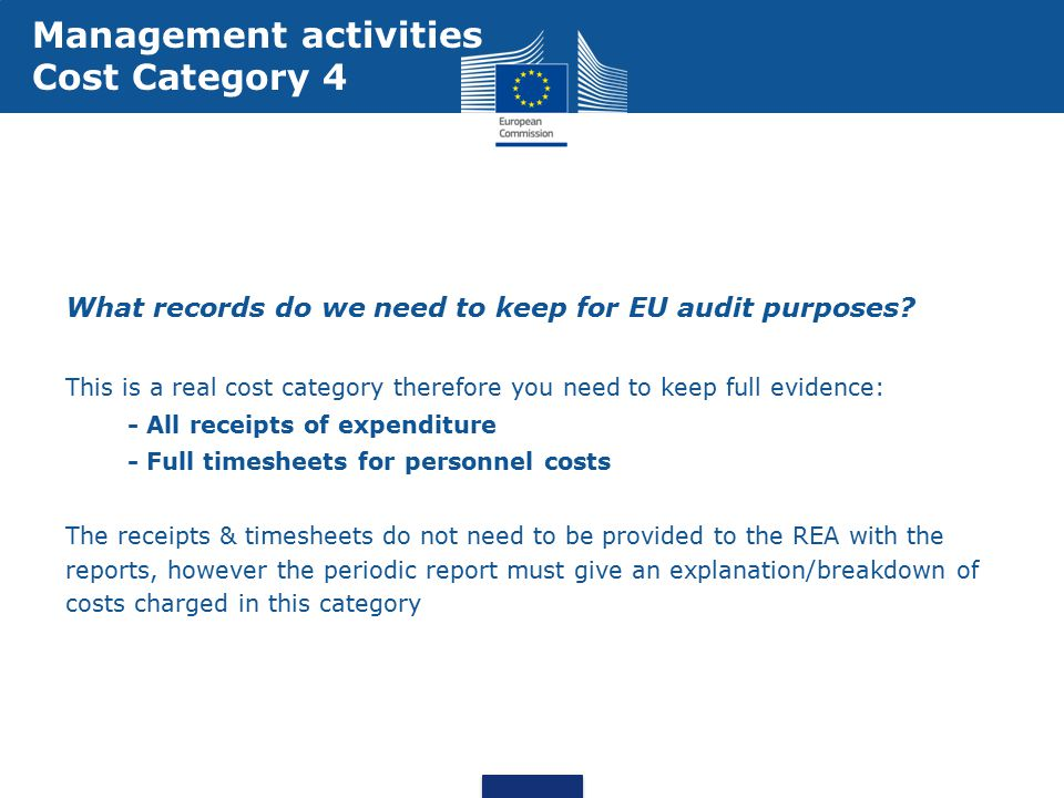 What records do we need to keep for EU audit purposes.