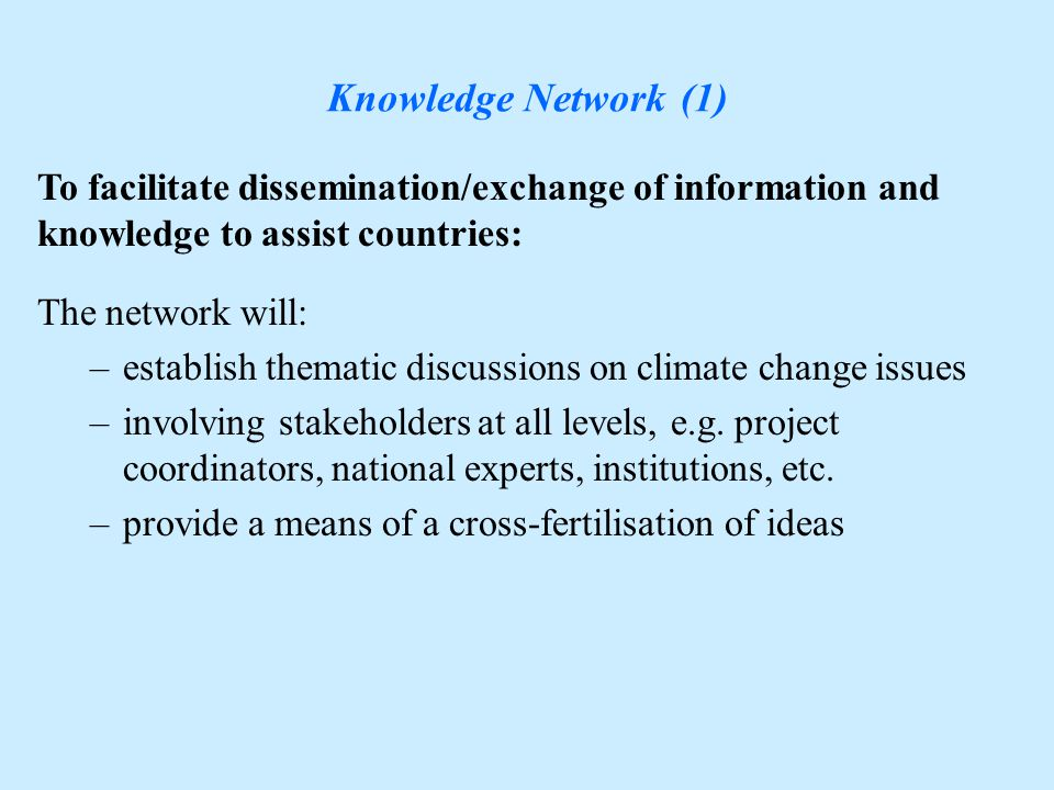 Climate Observing Systems To identify long-term solutions for improving climate observing networks at the regional level: To address reporting needs of NAI countries: Input to 'Top-ups' Publications: -10 Regional Action Plans (4 draft plans available) Workshops: -10 Regional Workshops through 2006 (five completed)