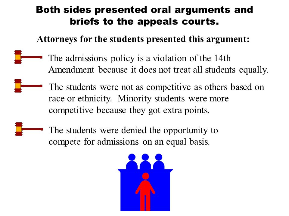 The question before the court: Does the University of Michigan's use of racial preferences violate the 14th Amendment