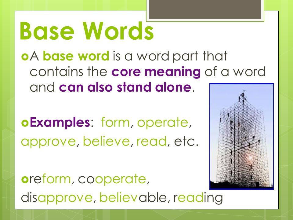 word parts base words roots and affixes quick write what do you